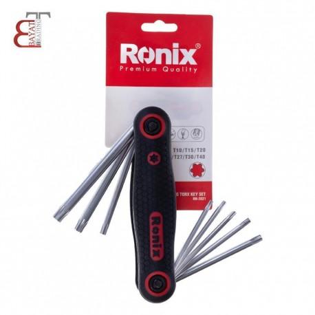 - 1* آچار آلن چاقويي ستاره اي رونيكس مدل RH-2021