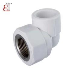 - * آذین سفید زانویکسر بوشن فلزی 25*3/4-23014