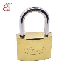 - @ قفل آویز سایز 50 طلایی نولان