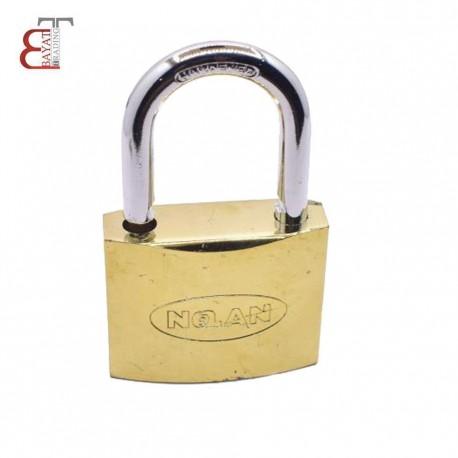 - * قفل آويز سايز 32 طلايي نولان (برنجي)