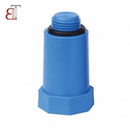 - * آذين نيوپايپ درپوش پايه بلند پلاستيكي آبي 1/2-12210