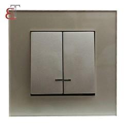 - @00 کلید دو پل جهان الکتریک کریستال بژ
